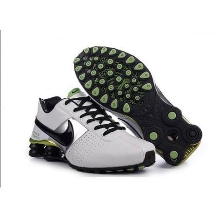 Hommes Blanc/Noir/Vert Nike Shox OZ D Chaussures
