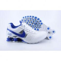 Blanc/Royal Bleu Nike Shox OZ D Chaussures Homme