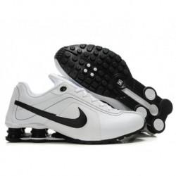 Homme Blanc/Noir Chaussures de course Nike Shox R4