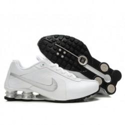 Chaussures de course blanc/argent Nike Shox R4 pour homme