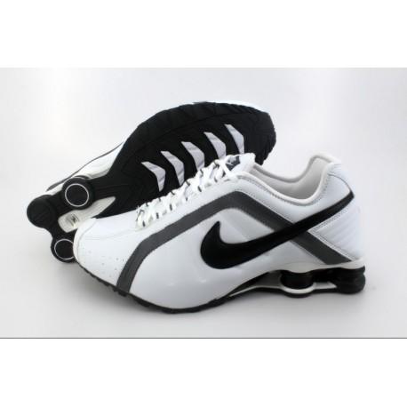 finest selection 7fcbc 23e66 Chaussures de course Nike Shox R4 pour homme et blanc gris foncé