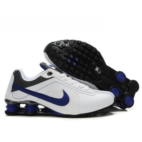 Blanc/Royal Bleu Nike Shox R4 Homme Running Chaussures