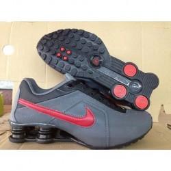 Chaussures de course pour homme Nike Shox R4 Gris/Rouge
