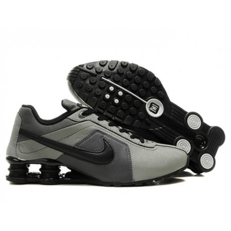 Homme Nike Shox R4 Chaussures de course Dark Grey/Noir