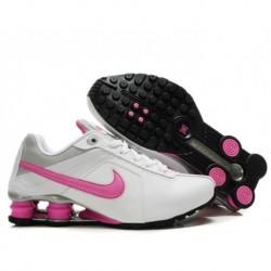 Femme Nike Shox R4 blanc/rose chaussures de course