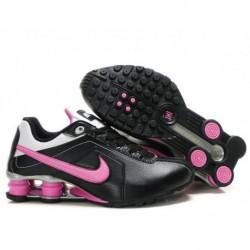 Chaussures de course femme Nike Shox R4 Noir/Rose/Argent